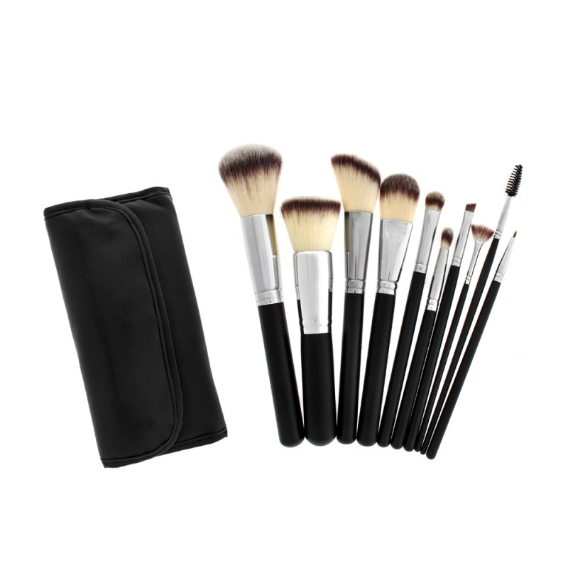 Cosmetco   Crown Brush 10pc Synthetic Brush Set