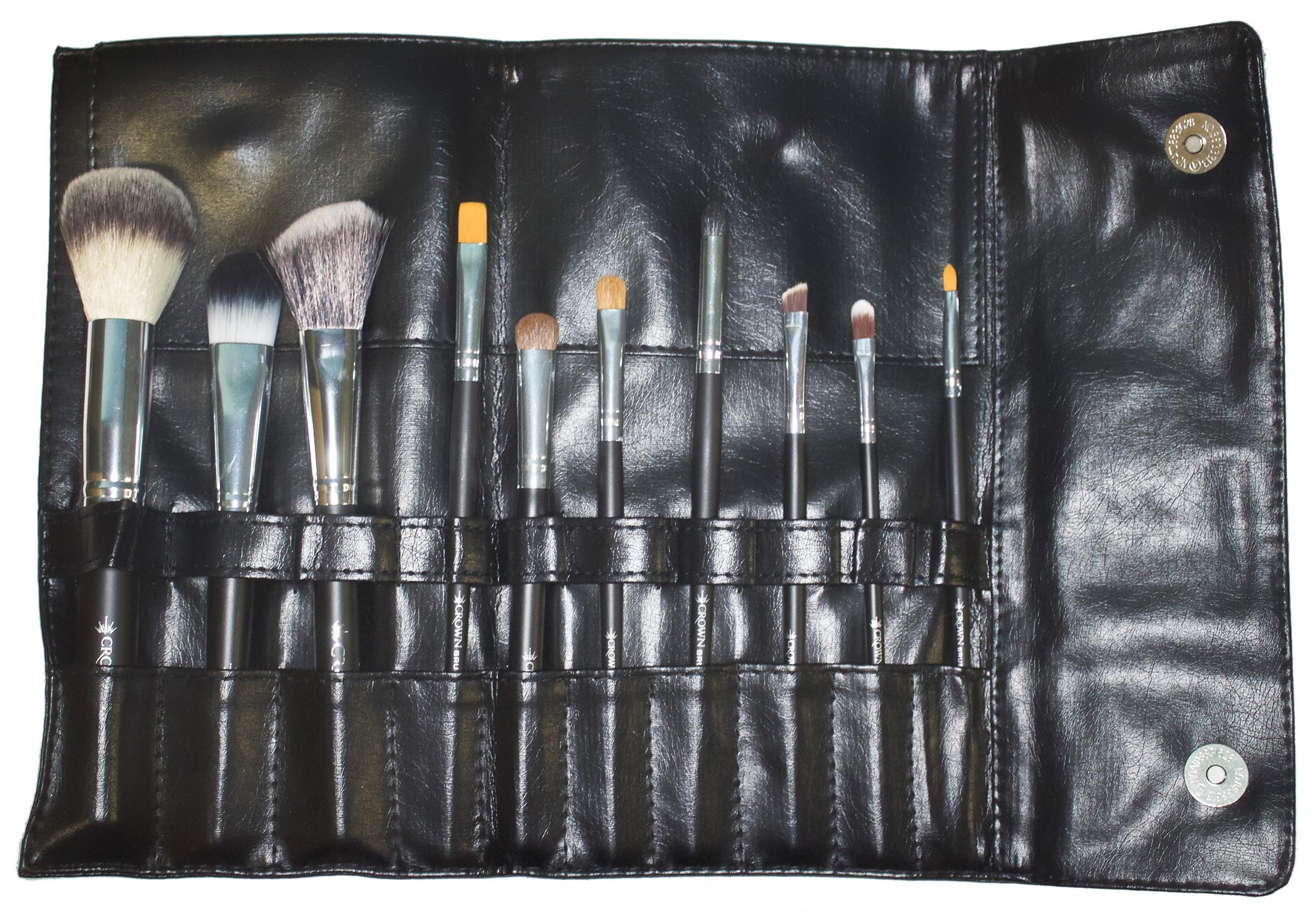Cosmetco   Crown 10pc Brush Set